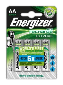 Energizer Recharge Extreme Batteri 4-pack - AA
