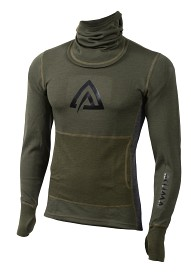 Aclima WarmWool Hood Sweater - Olivgrön