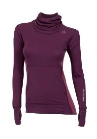 Aclima WarmWool Hood Sweater Vinröd - Dam