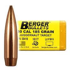 Berger 30 Cal 185 gr Juggernaut Target
