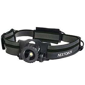 Nextorch pannlampa myStar svart, AA-Batteri 450lm