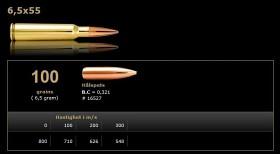 Norma Jaktmatch 6.5x55 Hålspets