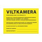 Varningsskylt Viltkamera