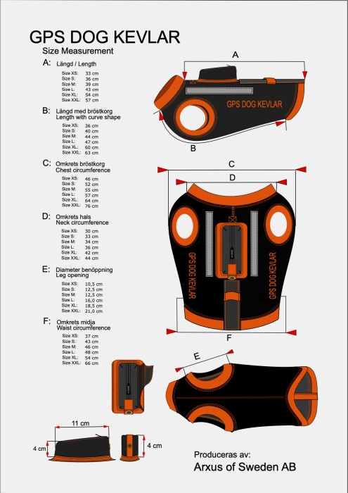 Arxus GPS Dog Kevlar