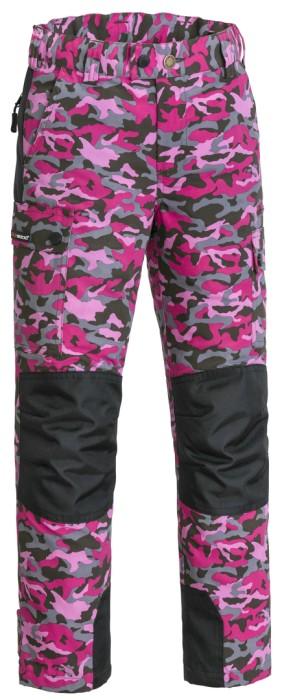 Pinewood Lappland Barn Byxa - Hot Pink Jungle/Black