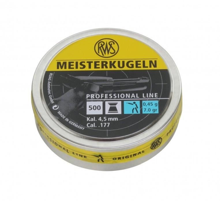 RWS Meisterkugeln Blå 4,5mm 0,45g