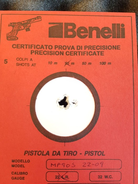 Benelli MP90S WC .22LR