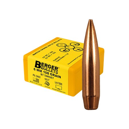 Berger Kula BT Target 6mm 108gr  500 Pack