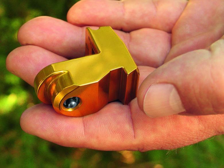 Tillägg - Låsblock Guldfärgat