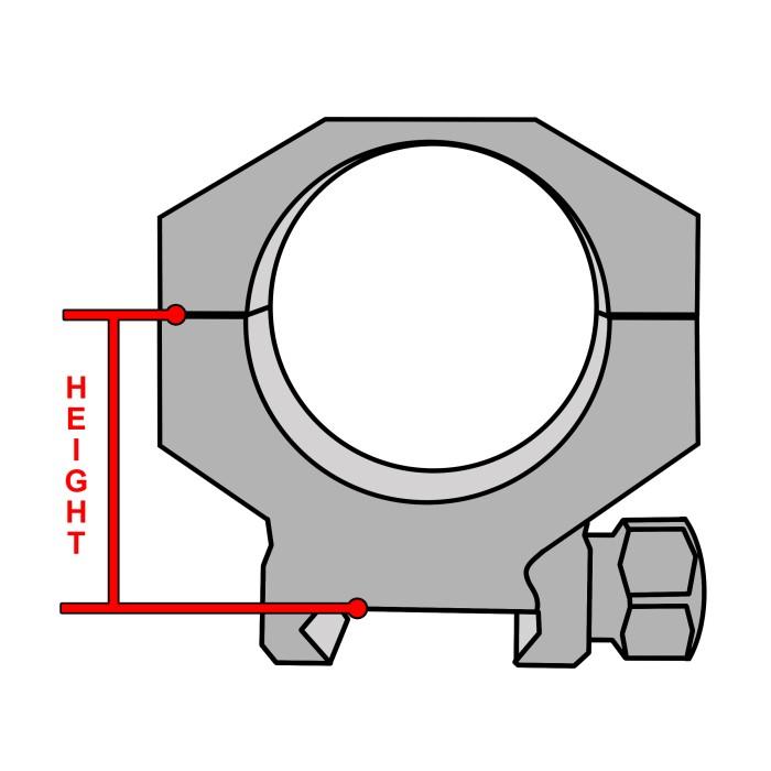Hawke Ringar Stål 30 mm QD Weaver