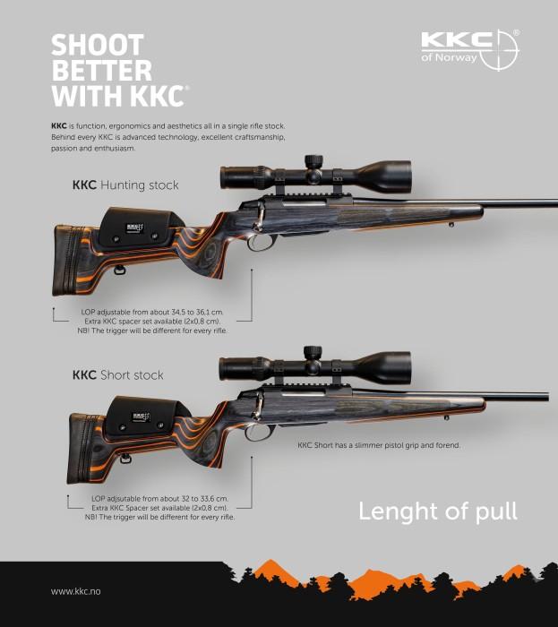 KKC Short Laminatkolv Black/Orange