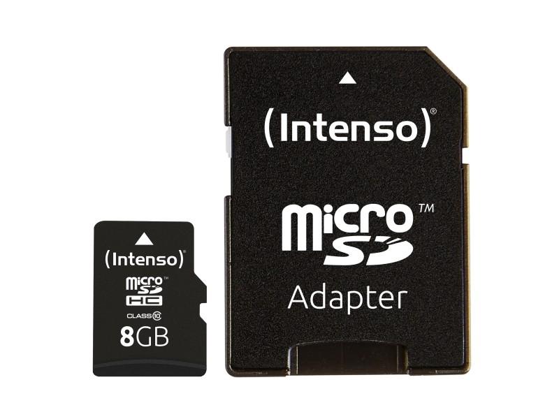 Micro-SD Minneskort 8 GB med Adapter Klass 10
