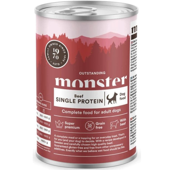 Monster Våtfoder Single Protein Adult