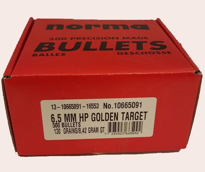 Norma Kula Golden Taget 6,5mm 8,42gram - 500 pack