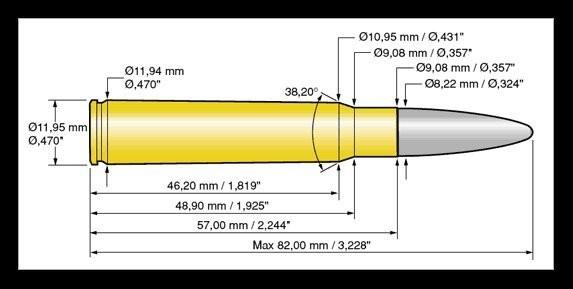 Norma 8x57JS Vulkan 12,7g