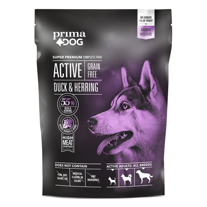 PrimaDog Active GrainFree Anka & Strömming, 1,5kg