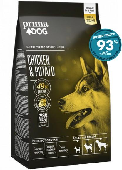 PrimaDog Adult All Breed Kyckling & Potatis 12kg