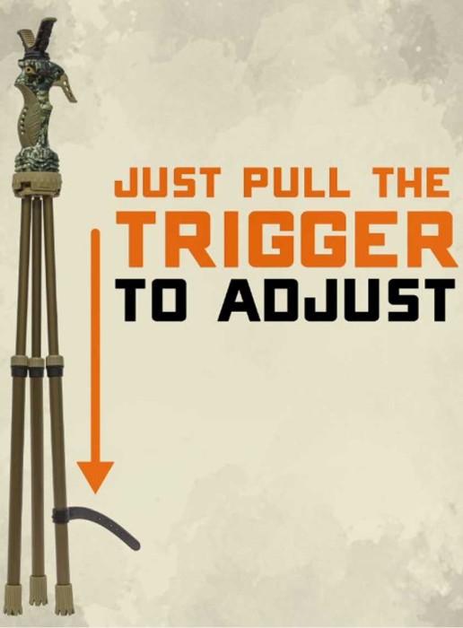 Primos Trigger Stick Gen III, Jim Shockey Edition Benstöd