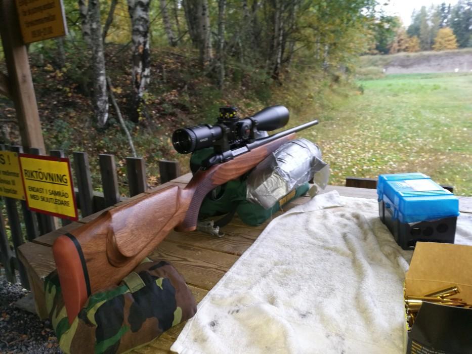 Provskjutning av vapen och optik