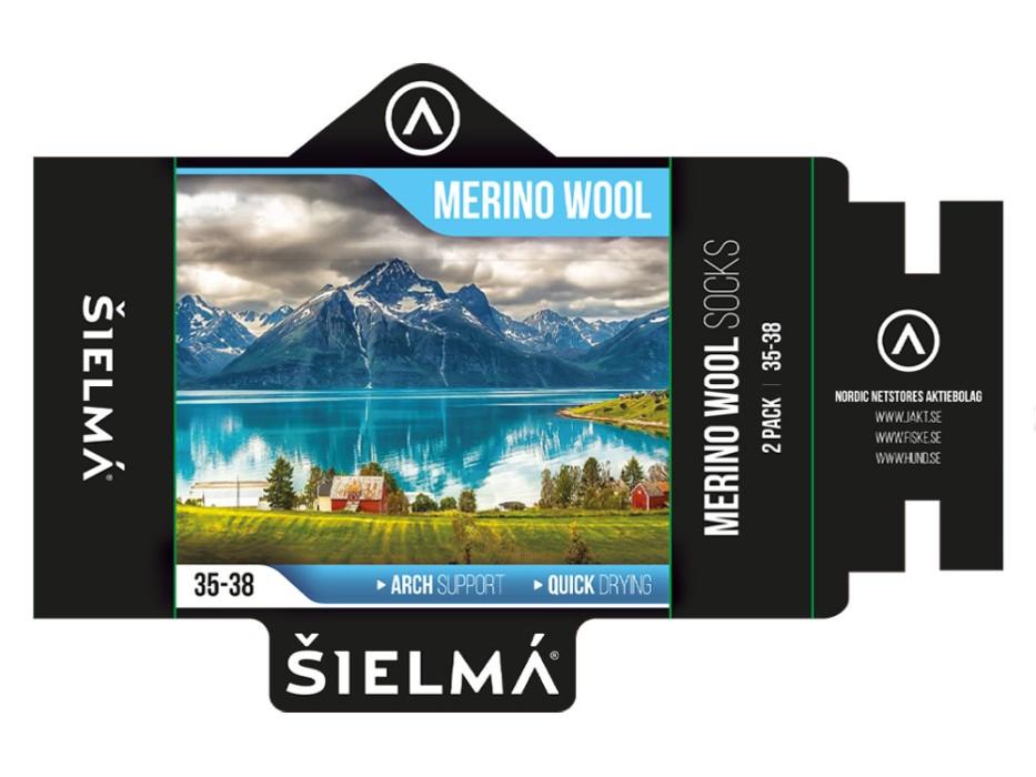 Sielma Merinoullstrumpa 2-pack