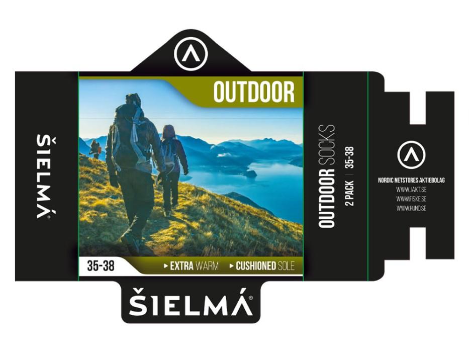 Sielma Outdoorsocka Ull 2-pack