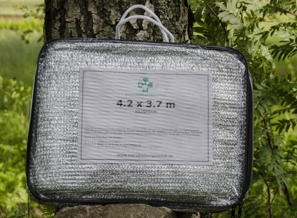 Svenska Djurapoteket Silverduk, 3,7x4,2m