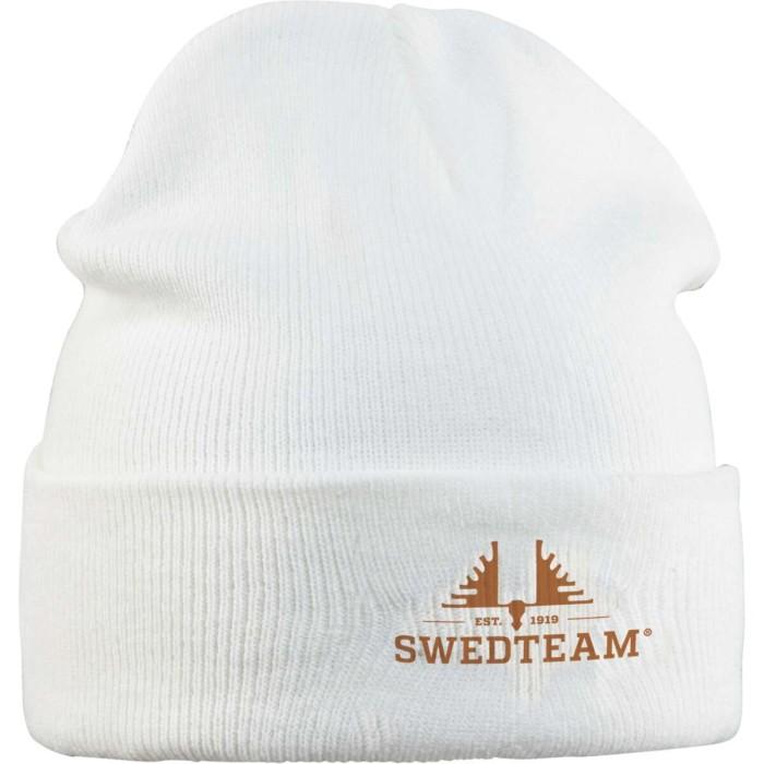 Swedteam Stickad mössa Vit