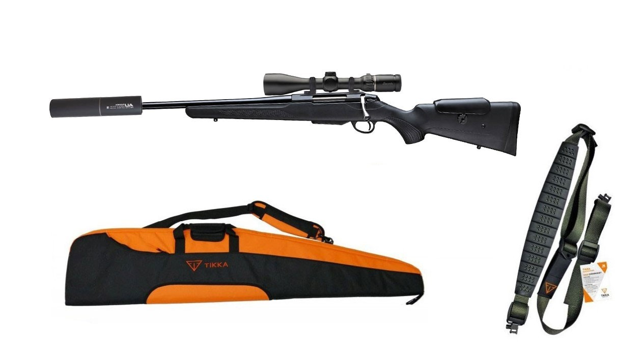 Tikka T3x Adjustable Vänster - Black Edition Paket