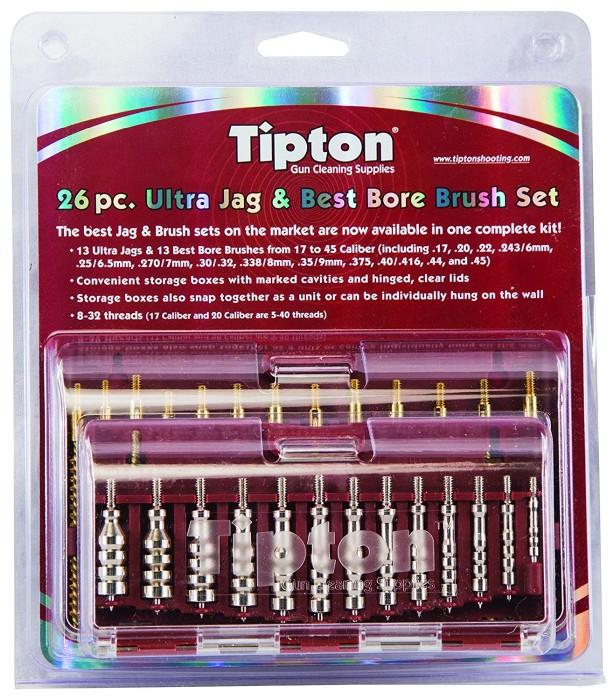 Tipton Ultra Jag & Brush Set För kal. 17-45