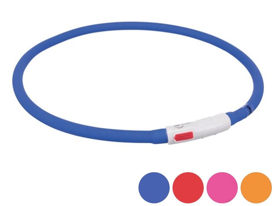 Trixie Flash Light Ring Blinkhalsband Silikon