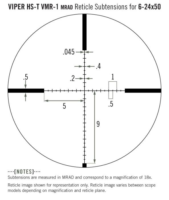 Vortex Viper HS-T SFP VMR-1 MRAD 4-16X44